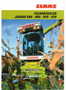 Claas 491 Jaguar 880-860-840-820-820-800 Deutsch