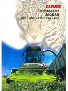 Claas 492 Jaguar-900-890-870-850-830 Deutsch
