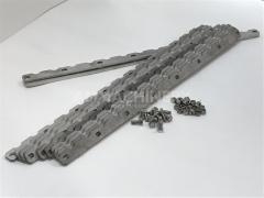 Metal detector roller wear strip kit for Claas® series 492