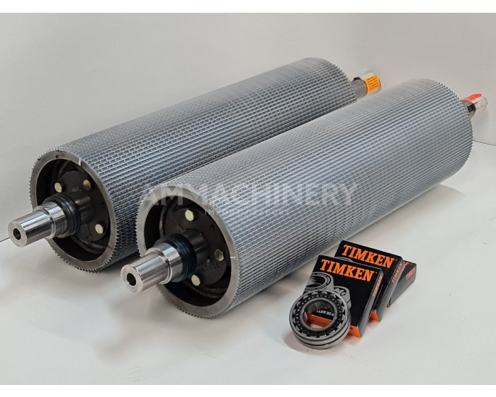 Chevron style KP rollers including bearings and pulley for Claas® series 492
